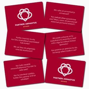usaldus armastus vestluskaardid paaridele meie naine mees abielu